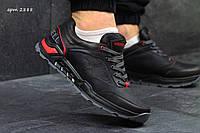 Кожаные мужские кроссовки Merrell black код 2888