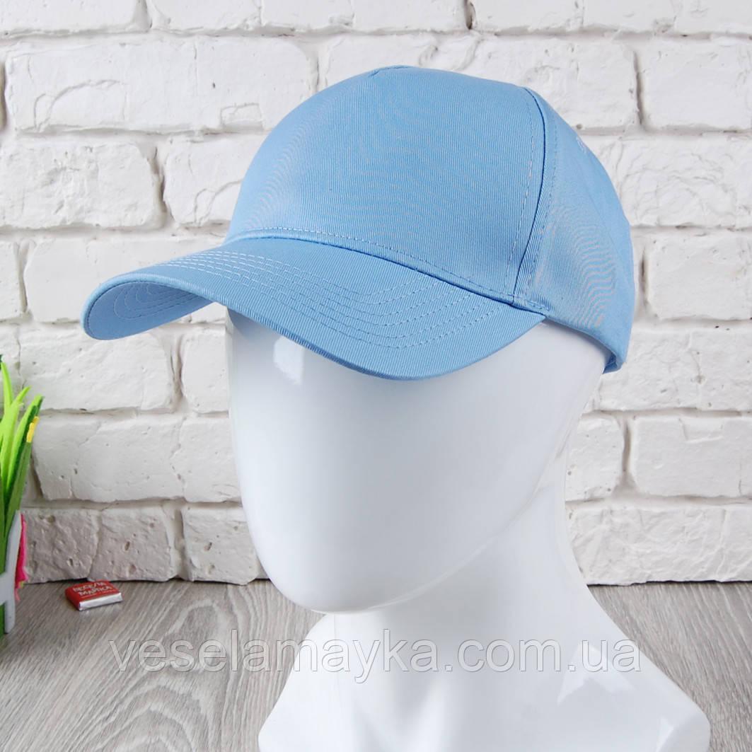 Голубая кепка на липучке (Премиум)