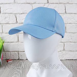 Блакитна кепка на липучці (Преміум)