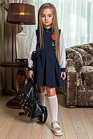 Детский школьный сарафан с вышивкой