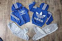 Детский  трикотажный Костюм  Adidas на 1,2,3,4,5,6 лет