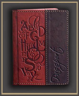 Обложка на паспорт кожаная Guk (3107)