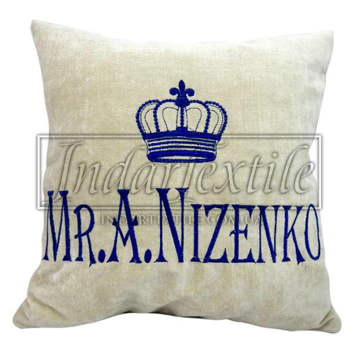 Именная подушка Mr. с короной