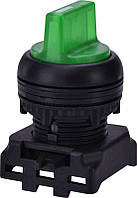 """Переключатель трехпозиционный """"1-0-2"""" EGS3I-NN-G, с подсветкой, с фиксацией, зеленый"""