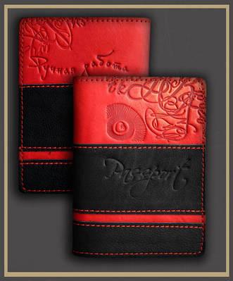 Обложка на паспорт кожаная Guk (4607)