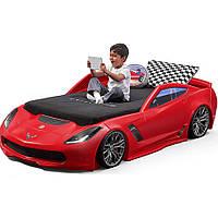 Детская кровать машина для мальчика 127х257х61см