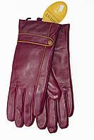 Женские бордовые перчатки