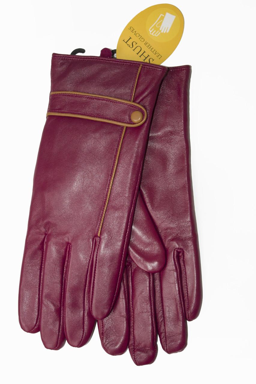 Женские бордовые перчатки LYNN-1693