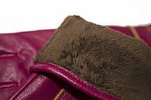 Женские бордовые перчатки LYNN-1693, фото 3