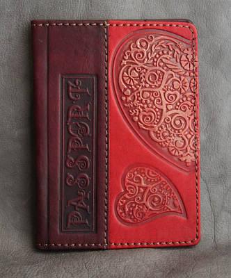 Обложка на паспорт кожаная Guk (0707)