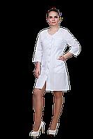 Халат медицинский женский 911 50-170 рубашечная белый-белый