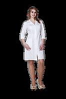 Халат медицинский женский Анна 52-170 элит белый-белый