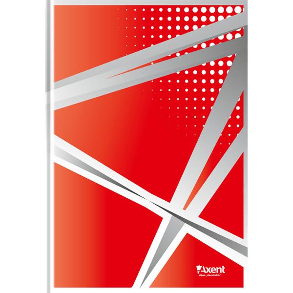 """Книга записная Axent серия """"Office"""", А4, картонная обложка 96 листов клетка ассорти 8422-406-A"""