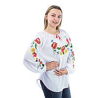 Блуза шифоновая с вышивкой