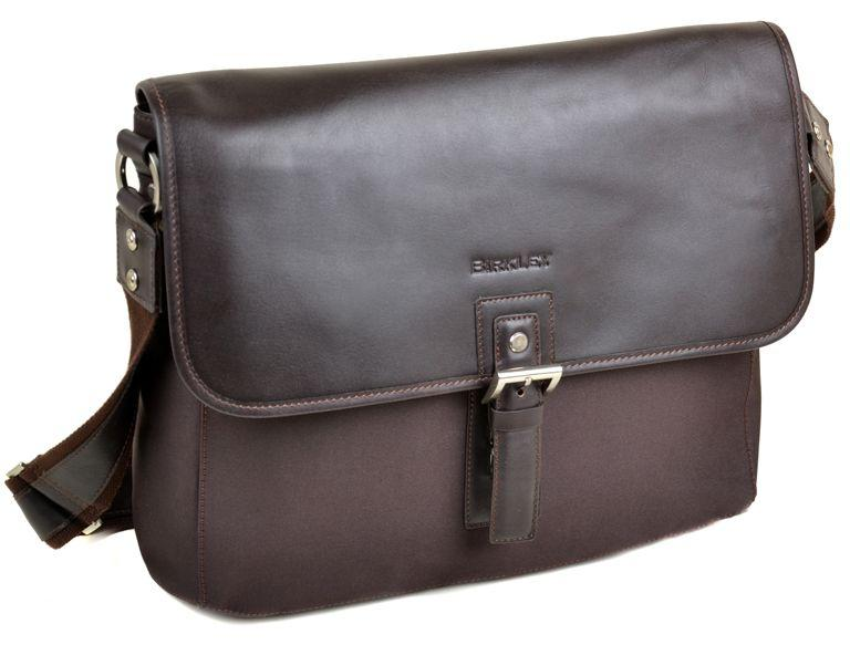2d24350cc743 Мужская сумка-портфель Birkley из кожи SH-51516DK.BR Коричневый ...