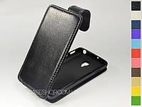 Откидной чехол из натуральной кожи для LG p713 Optimus L7 II