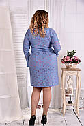 Женское платье - рубашка на каждый день 0579 размер 42-74 / больших размеров , фото 4