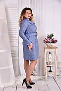 Женское платье - рубашка на каждый день 0579 размер 42-74 / больших размеров , фото 2