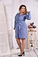 Женское платье - рубашка на каждый день 0579 размер 42-74 / больших размеров , фото 3