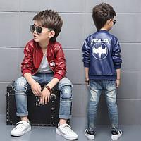 Детская куртка на мальчика кож зам бетмен