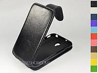 Откидной чехол из натуральной кожи для LG p715 Optimus L7 II Dual