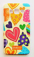 Чехол на Самсунг Galaxy A3 A300H Cath Kidston стильный Пластик Сердечки, фото 1