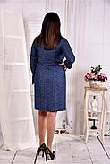 Женское платье - рубашка на каждый день цвет синий 0579 размер 42-74 / больших размеров , фото 4