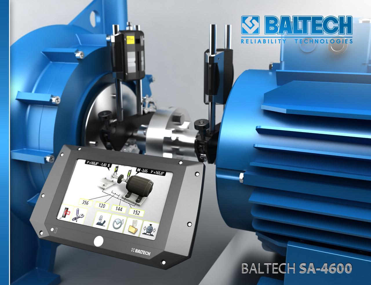 BALTECH SA-4600 — система для лазерной центровки шкивов, осей валов и контроля вибрации - BALTECH в Киеве