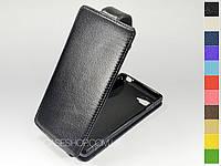 Откидной чехол из натуральной кожи для LG P880 Optimus 4x HD