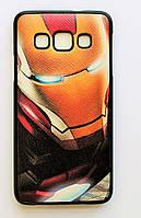 Чехол на Самсунг Galaxy A3 A300H My Color рифленый Силикон Железный человек, фото 1