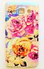 Чехол на Самсунг Galaxy A3 A300H приятный Силикон Глянцевый Розы