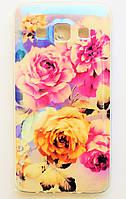 Чехол на Самсунг Galaxy A3 A300H приятный Силикон Глянцевый Розы, фото 1