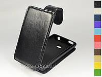 Откидной чехол из натуральной кожи для LG e405 Optimus L3 Dual