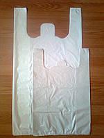 Пакет белый 44х86 см/40 мкм большой плотный, полиэтиленовые пакеты майка белая без печати, со склада купить