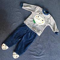 Детский велюровый костюм для мальчика кофта и закрытые штаны цвета в ассортименте оптом