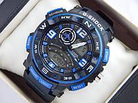 Спортивные наручные часы  Casio G-SHOCK ga-1000 синие авиаторы