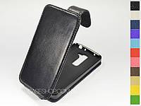Откидной чехол из натуральной кожи для LG Optimus G2 mini D618
