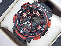 Спортивные наручные часы  Casio G-SHOCK ga-1000 красные авиаторы