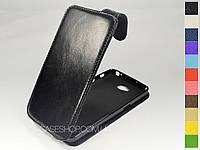 Откидной чехол из натуральной кожи для LG G Pro Lite Dual D680