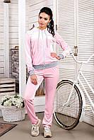 Женскийспортивный велюровый костюм розовый