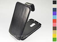 Откидной чехол из натуральной кожи для LG Optimus G2 D805