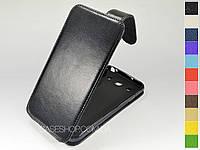 Откидной чехол из натуральной кожи для LG e988 Optimus G Pro
