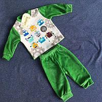 Велюровый детский костюм для мальчика с рисунком роботы оптом цвета в ассортименте