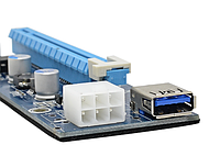 Райзер   PCI-E PCI 6pin ver 006C Express Riser USB 3.0 60см
