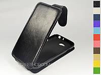 Откидной чехол из натуральной кожи для LG D405 Optimus L90