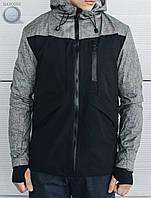 Весенне-осенняя куртка Staff- First black Art. hab0003 (серый   чёрный)
