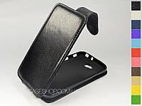 Откидной чехол из натуральной кожи для LG D320 Optimus L70