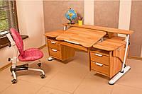 """Детский стол """"Эргономик с двумя тумбами"""" буковый, фото 1"""