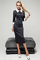 Черное женское платье Лизи Jadone Fashion 42-48 размеры