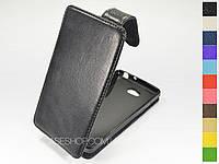 Откидной чехол из натуральной кожи для LG D380 L80 Dual